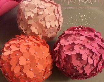 Hydrangea pomander ball / kissing ball / flower ball, handmade