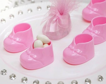 Baby Booties - Pink - 12 pcs/ Baby Shower booties
