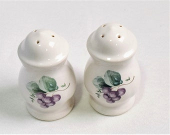 Vintage Ceramic Salt and Pepper Shakers/ Pfaltzgraff salt and pepper shakers
