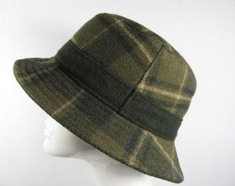 Vintage Ladies Wegener Wool Fedora Hat with Ear Flaps, ML01