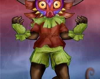 Majora's Mask A4 Print