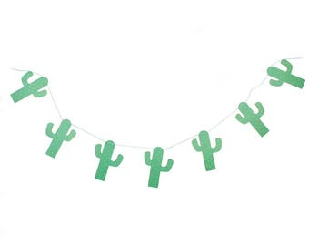 Cactus Party Garland, Cactus Banner, Cactus Decor, Fiesta Party Decor, Cactus Party, Fiesta Baby Shower, Fiesta Birthday, Cactus Garland