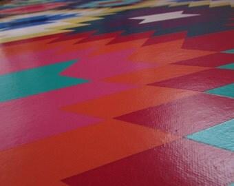 Floorcloth Runner - Kilim