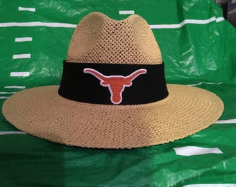 University of Texas longhorns straw hat.