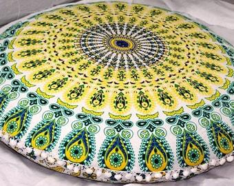 Indian large floor cushion cover mandala pillow floor pillow cover boho cushion cover mandala cushion  floor pillow seating round cushion