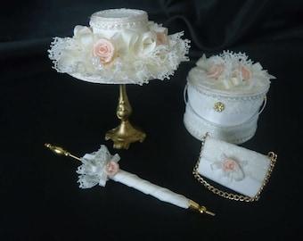 4-piece Victorian weddingset 1/12th scale