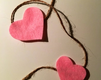 Hearts Garland decoration
