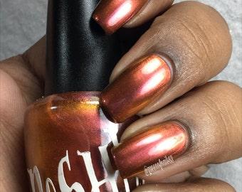 "Unique ""Mystic Autumn"" Chameleon Color Shifting Purplish Red - Gold Nail Polish Full Size 15ml Bottle"