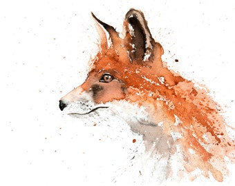 Fox No.2 - Signed Print of my original watercolour painting