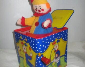 Metal Tin Jack in the Box Jester Clown Design