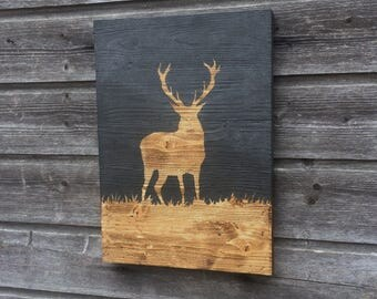Wall decor / Stag / Wood wall decoration / Wood sign / Deer / Wall art / Home decor / Decor