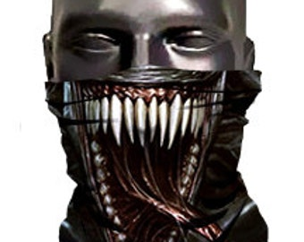Venom Face Ski Mask - Face Guard - Face Shield - neck warmer - Adult size men and woman