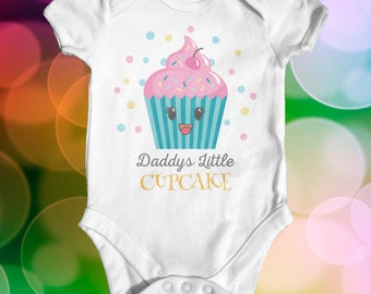 Daddy's Little Cupcake Baby Bodysuit | Baby Shower Gift | Funny Baby Bodysuit | Slogan Baby Bodysuit | Cute Baby Clothes | Newborn Baby