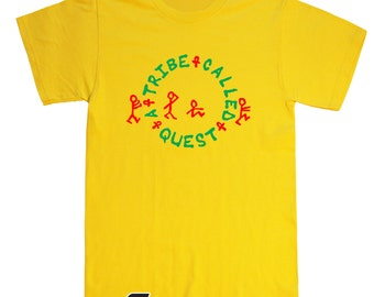 A Tribe Called Quest T Shirt - Old School Hip Hop - ATCQ - Red and Green Print