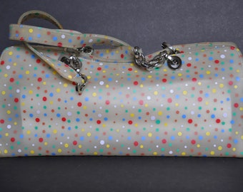 AS IS 1970s Multicolor Polka Dot Purse
