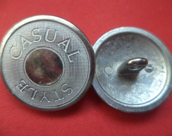 7 METAL BUTTONS 18 mm 21 mm (6754 6755) metal buttons silver