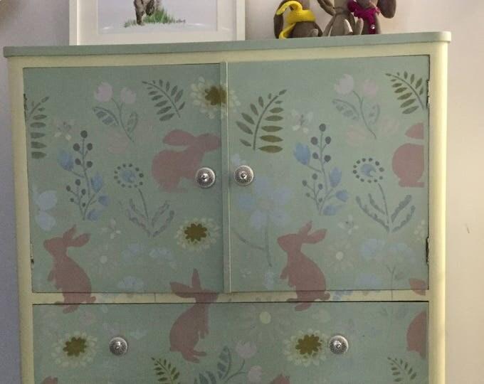 Vintage Nursery TallBoy/ Linen Cupboard