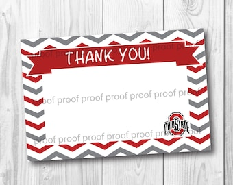 Ohio State Thank You Card - Printable