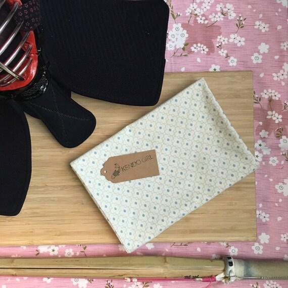 Kendo Tenugui, Japanese Cotton Tenugui - Blue Daisy Design by Kendo Girl