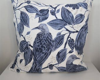 Double-sided 20'' PARADISE BIRD cushion cover, made from 100% cotton fabric. Pillow case, for pillow size 50x50 cm (20''x20')