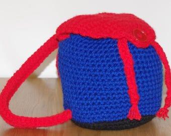 "Small Crochet Backpack 18"" x 18"""