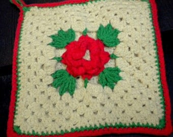 crochet Potholder select set or individually pure cotton gift article 60 he years vintage
