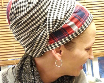 Lines, lines, lines, Special black tichel, white and red tichel, Chemo snood, Sinar, Hairnets, Mitpachat, Jewish tichel, Bandana, Apron