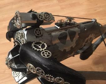 Steampunk silver crossbow rebuild grain