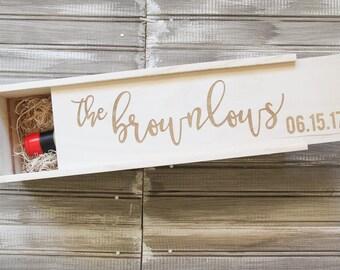 Customized Wine Box | Wedding Wine Box | Personalized Wine Box | Custom Wine Box | Wedding Shower | Wedding Gift | Anniversary Gift