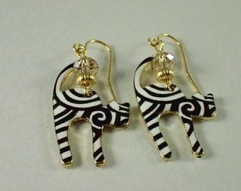Striped Cat Earrings