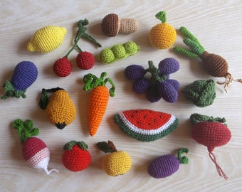 Tuto Amigurumi Fruit : Amigurumi fruit Etsy