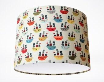Treasure Maps Drum Lampshade // Handmade Bespoke Drum Lampshade // Children's Lampshade // Kids Lampshade // Boy's Lamp