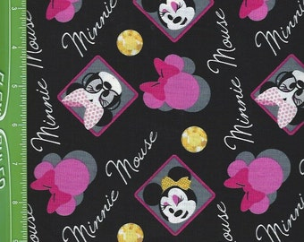 Minnie Mouse Framed on Black, Springs Fabrics