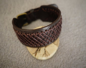 leather bracelet men women handmade