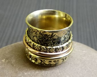 Indian hand crafted rings   Ethnic thumb rings   Fusion jewelry rings   Copper and brass swing rings   Birthday gift rings jewelry   R12
