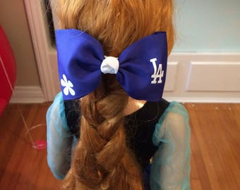 Dodger Blue hairbow clip