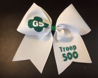 Girl Scout Hairbow with Troop Number