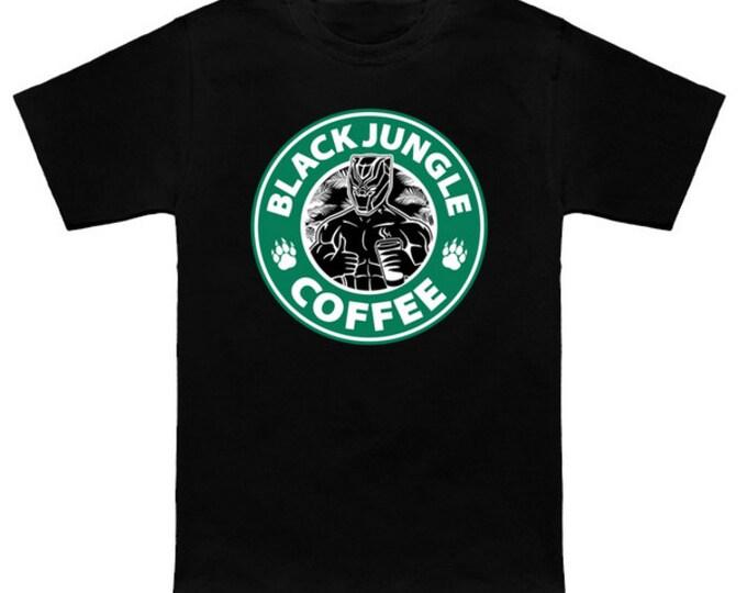 WAKANDA BREW Shirt Starbucks Coffee Marvel Comics Mashup Black Panther Captain America Civil War Movie T'Challa Geek Nerd T-Shirt
