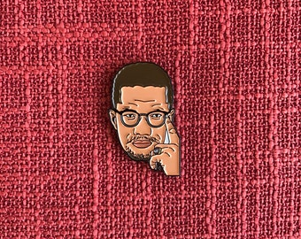 Malcolm X Lapel Pin - Soft Enamel