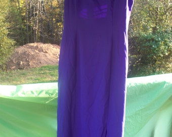 Ladies Purple Maxi Dress With Cut Outs, Size 15/16