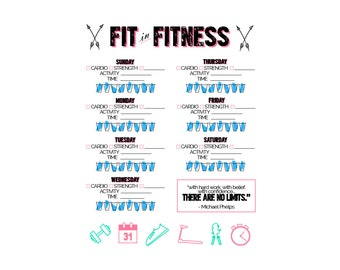 Fitness Tracker Printable