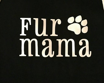 Fur Mama dog paw print Decal. Put on car windows, Christmas ornaments, rtic & yeti cups... Decal only.