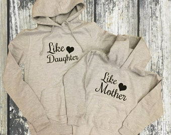 Like Mother Like Daughter matching Hoodie Set