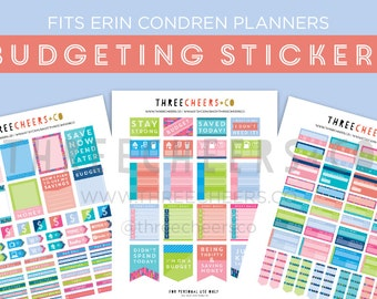 Budgeting Stickers (Fits Erin Condren)