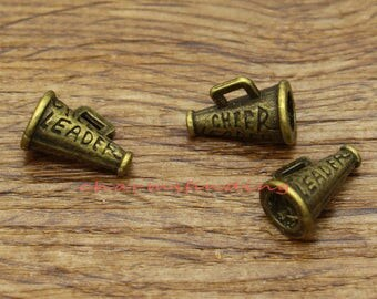 20pcs Cheerleader Megaphone Charms Antique Bronze Tone 3D Charms 11x15mm cf2163