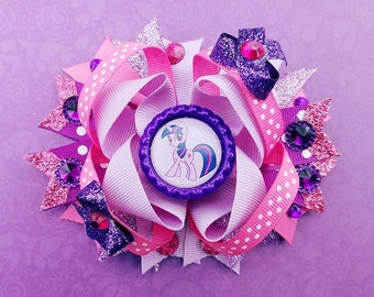twilight Sparkle Pony Over the Top Spike Tail Hair Bow My Little Pony