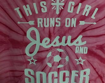 Tye Dye Spriral Jesus and Soccer Girl Tee