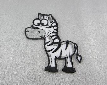 Zebra Iron On Patch