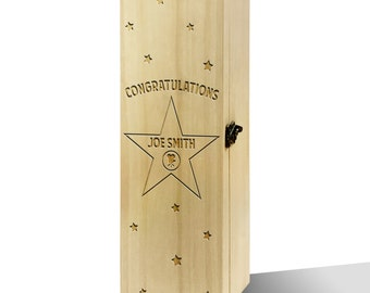 Personalised Hollywood Star Luxury Wooden Wine Box