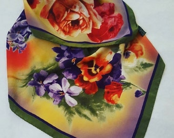 Vintage pure silk scarf Made in Italy